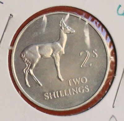 Zambia 2 Shilling 1964 proof