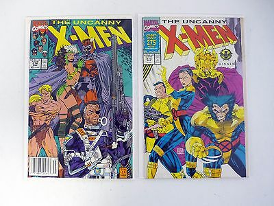 UNCANNY X-MEN #274 275 Marvel Comic Book Lot of 2 Issues FN-VF 1991