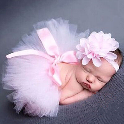 Newborn Baby Girl Crochet Knit Tutu Skirt Costume Photography Photo Prop Outfit
