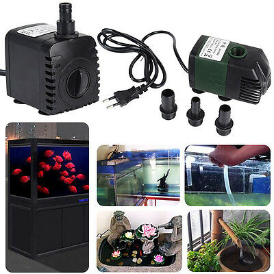 150-1500L/H Aquarium Fish Tank Aquatic Fountain Pond Marine Submersible Pump