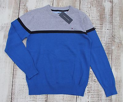 TOMMY HILFIGER Kids Boys Size 12-14 Blue Gray NEW Pullover Sweater