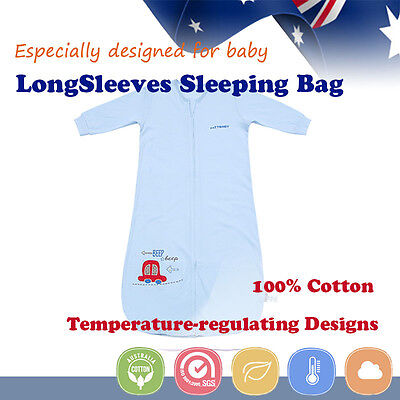 Baby Toddler Kid Sleeping Bag Sleepsuit 0.5tog Long Sleeve Nursery Spring Summer
