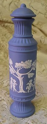 Vintage Avon Avonshire Blue Jasperware Bird Of Paradise Cologne Bottle