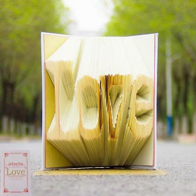 Special Folding Word Art Love Book Wedding Party Notebook DIY Paper Book
