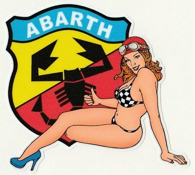 ABARTH left Pin Up gauche Sticker