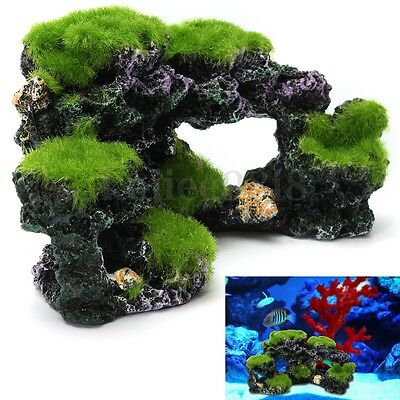 Aquarium Coral Reef Moss Rock Fish Tank Marine Island Ornament Cave Decorations