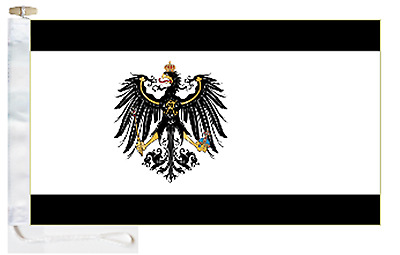 Germany Kingdom of Prussia 1892 to 1918 Courtesy Boat Flag Roped & Toggled