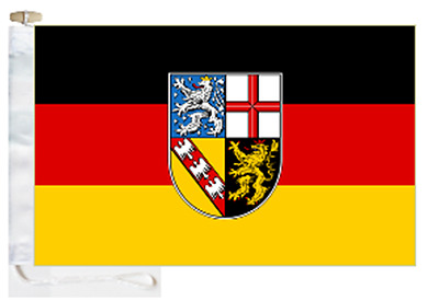 Germany Saarland State Courtesy Boat Flag Roped & Toggled