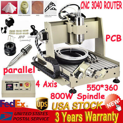 ballscrew 300W 3040 CNC Router engraver engraving milling machine 800w Spindle