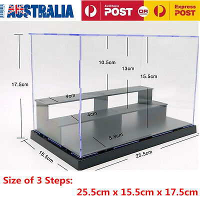 25cm Display Acrylic Plastic Case Perspex Box Dustproof Self-Assembly Protection