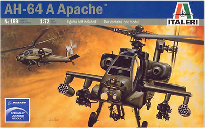 Italeri 0159 1/72 Scale Model Attack Helicopter Kit U.S AH-64 A Apache