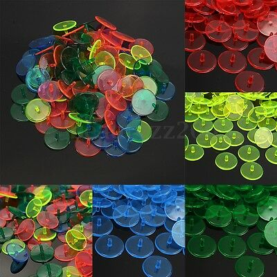 100Pcs Pack Plastic Golf Ball Marker Balls Position Pin Multicolor Markers Round