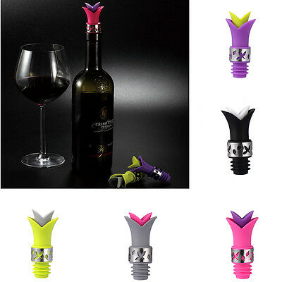 Silicone Lily Bottle Stopper Leakproof Wine Pourer Kitchen Party Anti Spill Cork