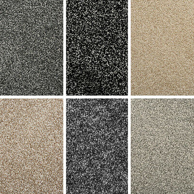 New 4M Quality Carpet! 6 Colours Felt Saxony Carpet - Cheap Only £6.99 M²
