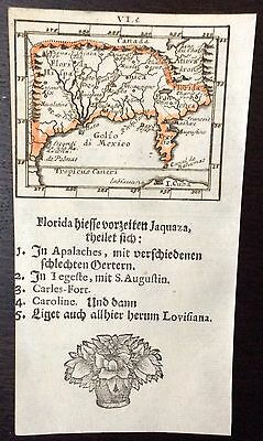 Rare 1702 map of Florida and Louisiana by Johann Ulrich Müller