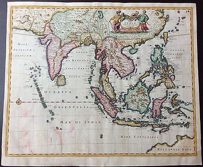 1662 map of Asia, India & Northern Australia published by Frederick de Wit