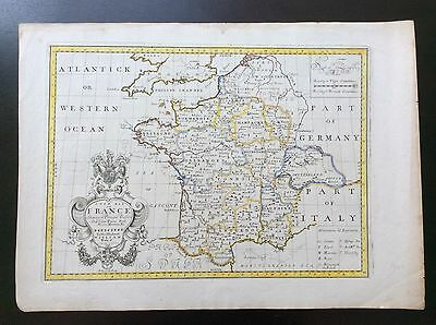 c.1712 Map of France by Edward Wells