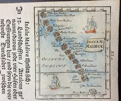 Rare 1702 map of the Maldives by Johann Ulrich Müller