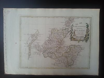 Rare 1795 map of northern Scotland, the Western Isles & Orkney by Pazzini Carli