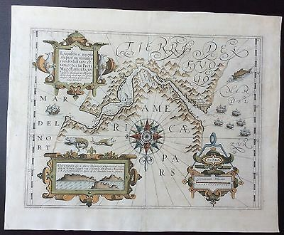 c.1613 map of the Magellan Straits published by Gerard Mercator