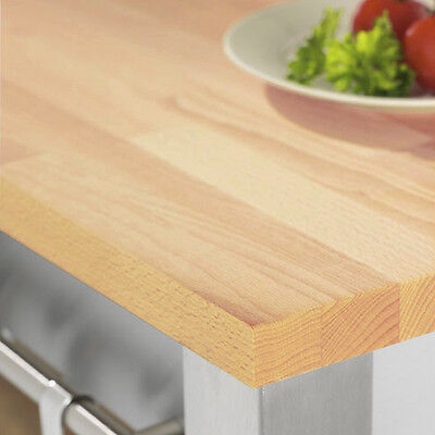 Rustic Beech Wooden Timber Worktops - Top Quality Solid Wood SALE