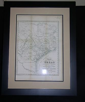 1839 Republic of Texas Map Framed and Matted