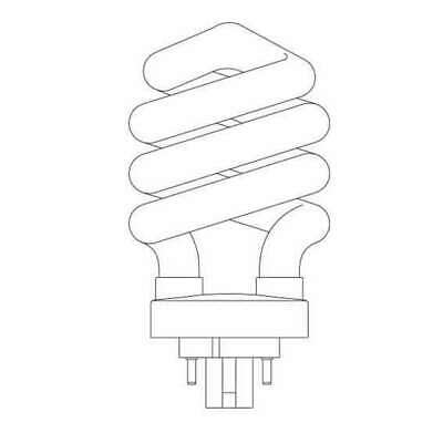 26w 4 Pin 2700k Spiral Light Bulb G24q 3 Base Plug In Cfl 100w Equal