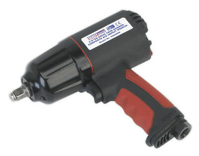 """Composite Air Impact Wrench 3/8""""Sq Drive Twin Hammer From Sealey Gsa6000 Syd"""