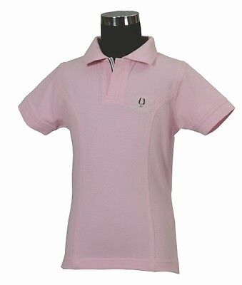 TuffRider Polo Shirt Kid S/S Pink Large