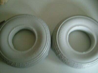 PAIR OF 200 x 50 PUNCTURE PROOF MOBILITY SCOOTER TYRES. BRAND NEW COLOUR GREY.