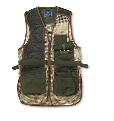 Beretta Two Tone Clays Vest Loden Khaki GT08 Size XX Large Make an Offer