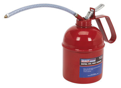 Metal Oil Can Flexible Spout 1000Ml From Sealey Tp1000 Sysp
