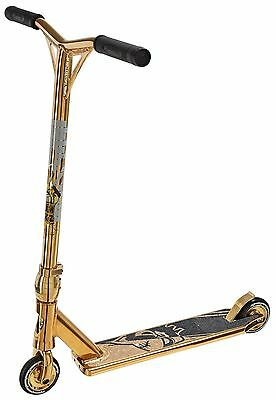 Team Dogz Pro 4 Chrome Gold Stunt Park Scooter Including New Hollow Core Wheels