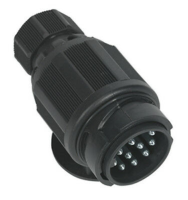 Towing Plug 13-Pin Euro Plastic 12V Twin Inlet From Sealey Tb54 Sysp