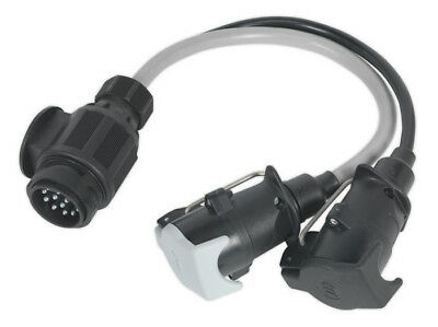 Conversion Lead 13-Pin Euro To 7-Pin N & S Type Plugs 12V From Sealey Tb55 Syp