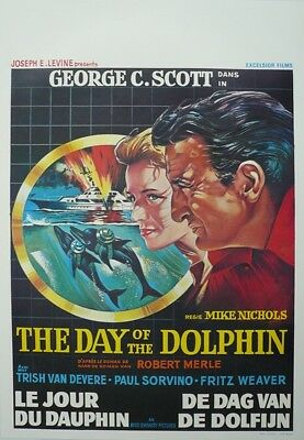 Day of the Dolphin Original Movie Poster SS Belgium Belgian Mike Nichols WD