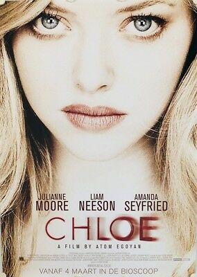 Chloe Original Movie Poster Dutch Netherlands Amanda Seyfried Atom Egoyan B WD