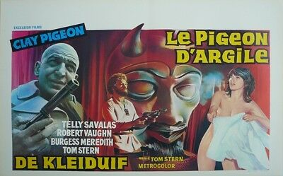 Clay Pigeon Original Movie Poster Belgium Belgian Lane Slate B  nude brunette WD