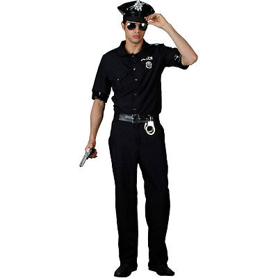 Adult Mens New York US Police Cop Uniform Fancy Dress Costume Outfit 3023