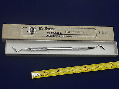 UNUSED Vintage 1960's HU FRIEDY  Dental Sanders Knife Tool in Box