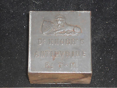 1894 Vintage DR. KNORR'S ANTIPYRINE Embossed Tin Medical Medicine