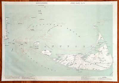 1907 map of Nantucket, MA published by Geo. H. Walker