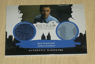 2017 Cryptozoic Gotham season 2 dual wardrobe Ben McKenzie James Gordon DM1 SSP