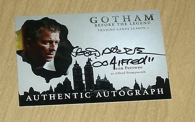 2017 Cryptozoic Gotham season 2 autograph card Sean Pertwee ALFRED inscription