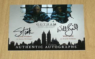 2017 Cryptozoic Gotham season 2 DUAL autograph card Stink Fisher Will Brill /10