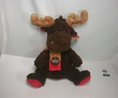 Chocolate Scented Moose Stuffed Animal Dan Dee Collector's Choice 14 1/2""