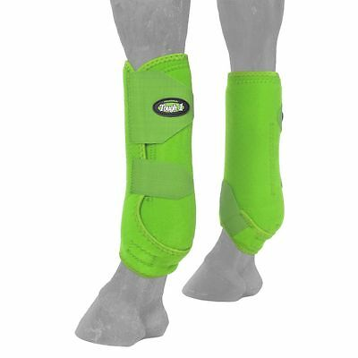 Tough-1 Extreme Vented Sport Boots Rear Small Neon Green