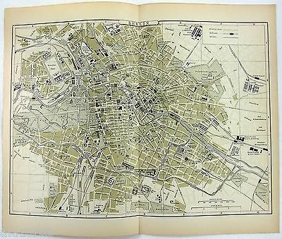 Original Johnson's Map of Berlin Germany from 1896