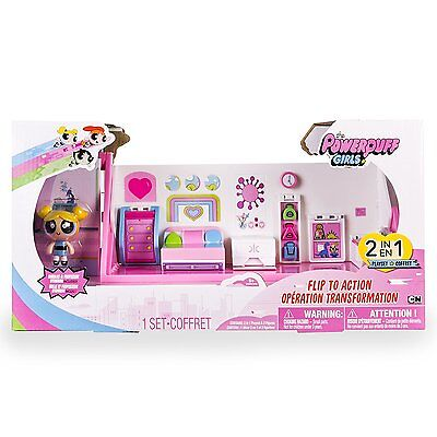 Powerpuff Girls - Flip to Action Playset New