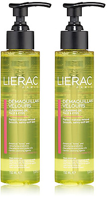 Lierac Cleansing Oil Makeup Remover for Face & Eyes, 5 Oz (2 Pack)